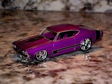 JADA 69 CHEVY CHEVELLE SS DIE CAST CAR 1/64 1969 CHEVROLET PURPLE BLACK STRIPE