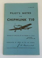 Vintage Air Ministry Original Pilot's Notes for Chipmunk T10 Aircraft Plane