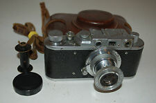 Zorki 1 Type C Vintage Soviet Rangefinder Camera With Case & Cap 1953. No.394537