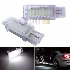 2x White CAN-bus LED Door Courtesy Lights Lamps For Mercedes C CLK SLK SLR Class
