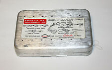 Perrine No. 99 Aluminum Fly Box Fly Fishing with 28 Trout Flies