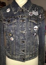 Metal Spiked Jean trucker Jacket Acid Washed Custom BVB AA BMTH BC Letlive OOAK