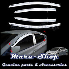Chrome Door Window Vent Visor Deflector for 11~16 Hyundai Elantra 4DR
