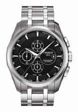 Tissot 1853 Silver Stainless Steel Quartz Chronograph Watch In Black Dial