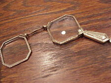 Antique 14K Yellow Gold Folding Glasses Or Lorgnette