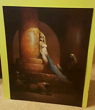 Frank Frazetta Print Egyptian Queen Art Poster Black Leopard Nude Tattoos Taboo