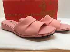 Vintage Merry Mules By Beacon Ladies Pink Slipper Shoes 7.5 Narrow