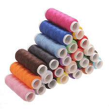 New 24 Rolls Colour Spools Yarn Finest Quality Cotton Thread Reel Hand Machine