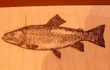P28  Trout Fish Rubber stamp WM