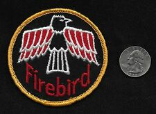 "Vintage 60s-70s FIREBIRD 3"" Car Vehicle Hot Rod Rockabilly Gearhead Auto Patch"