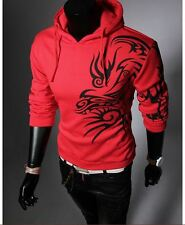 Men's Fashion Cultivating Long-Sleeved Hooded Sweater Coat