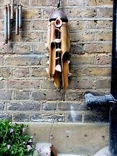 Large Beautiful Bamboo Wind chime With Hand Threaded Sea Shells