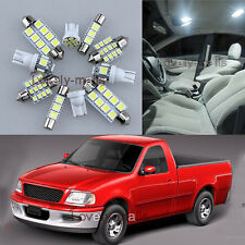 White Car Auto Light Interior LED Package 7x for FORD F150 F-150 1997-2003 L7