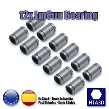 Kit de rodamientos LM8UU 12 unidades pcs 12 x LM8UU bearing reprap prusa