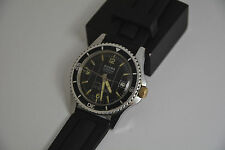 VINTAGE SICURA BY BREITLING SUPERWATERPROOF DIVER WATCH 400m