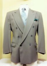 Mens zenio olive double breasted suits sz 44R