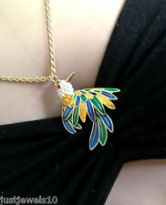 Exotic Bird Designer Jewellery Unusual Gift Paradise Tropical Summer Necklace