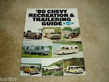 1980 Chevrolet Trailer towing guide Suburban K10 pickup Blazer sales brochure