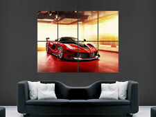 FERRARI FXXK RED SUPER CAR  FAST WALL POSTER ART PICTURE PRINT LARGE  HUGE