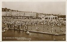 POSTCARD  SOMERSET WESTON SUPER MARE  Bathing and Boating Pools