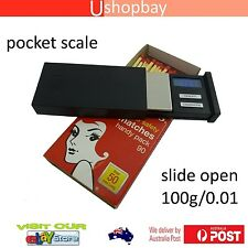Mini Pocket Slide Open Digital Scale Matches Box Style Ultrathin 100g/0.01g MB