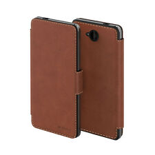 Mozo Flip Cover Case for Microsoft Lumia 650 in Cognac