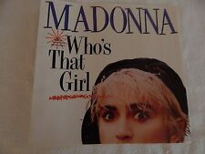"Madonna ""Who's That Girl"" PICTURE SLEEVE! NEW! MINT! PERFECT!!"