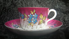Antique Imperial  Russian Porcelain Cup and  Saucer Kuznecov Hand Painted Rare