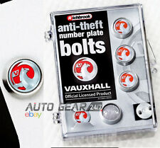 Richbrook Official Vauxhall Anti Theft Car Number Plate Screws Bolts Set