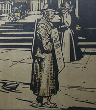 William Nicholson 1898 Types de Londres London L'Homme Sandwich Man