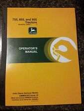 NEW JOHN DEERE 755 855 955 OPERATORS MANUAL