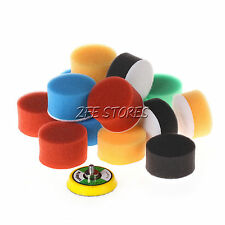 NEW16Pcs 2inch Flat Polishing Buff Pad For Air Sander Car Polisher - Thread-M6X1