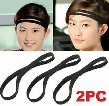 FD4920 Stretch Elastic Sport Headband Running Football Anti-Slip Hairband 2PCs
