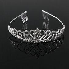 Wedding Bridal Rhinestone Crystal Tiara/Hair Loop/Crown/Hairband/Small Comb New