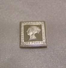 SOLID SILVER STAMP MAURITIUS 1847 ONE-PENCE QUEEN VICTORIA