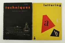 Vintage Lot Technical Lettering & Technique Guide Books Higgins Ink Brooklyn NY
