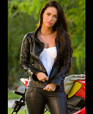 MEGAN FOX 8X10 PHOTO PICTURE PIC HOT SEXY TIGHT LEATHER OUTFIT 57