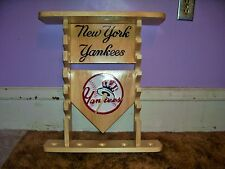 New York Yankees display shelf for mini bats,balls, bobble heads see pics & add