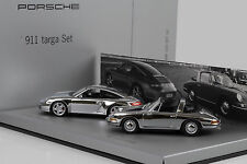1966 2006 Porsche 911 40 Years Targa Set 997 4S 901 chrome Minichamps 1:43 WAP