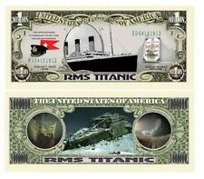 Titanic Novelty One Million Dollar Bill RMS Titanic