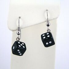 Handmade Casino Black DICE Earrings/Jewelry/Women/Men Choose Your Color