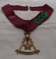 Freemason Masonic Scottish Rite 14th Degree Jewel with Collar