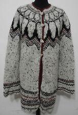Island Norweger Damen Strickjacke Tunika Grösse XL Schurwolle Handarbeit G271