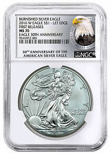 2016-W Burnished Silver Eagle NGC MS70 FR (30th Anniversary) PRESALE SKU44309