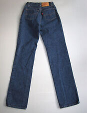 Vintage Levi's 501 High Waisted Mom Jeans Denim Blue USA Button Fly 23""