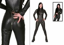 WOMEN JUMPSUIT ROMPERS GENUINE LAMBSKIN REAL LEATHER JUMPSUIT CATSUIT GLN 23