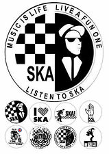 """Ska Iced / Icing / Frosting Edible Cake Topper 7.5"""" + 8 Cupcake Fairy Toppers"""