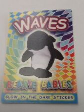 TY Beanie Babies Glow in the Dark Sticker Coloring Card WAVES