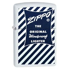 "Zippo ""The Original Windproof"" White Matte Lighter, Full Size,  29413"