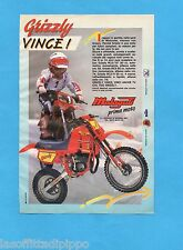 TOP989-PUBBLICITA'/ADVERTISING-1989- MALAGUTI - GRIZZLY RCX